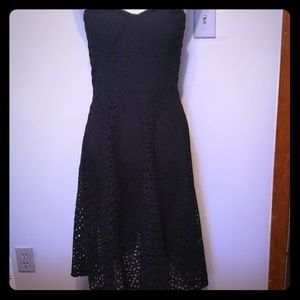Ann Taylor Navy Strapless Dress 4